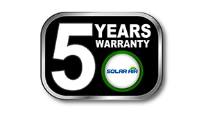 solarair 5 years warranty